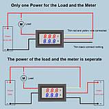 Цифровой вольтметр амперметр (4-знака) DC 0-200V 10А с шунтом №3, фото 4