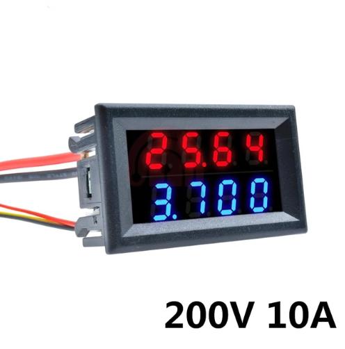 Цифровой вольтметр амперметр (4-знака) DC 0-200V 10А с шунтом №3