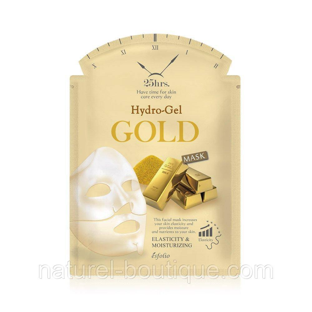 Гидрогелевая маска для лица Esfolio с золотом