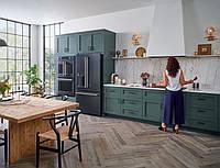 Кухня зеленая на заказ фасады мдф столешница кварц , фото 1