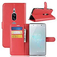 Чехол-книжка Litchie Wallet для Sony Xperia XZ2 Premium H8166 / H8116 Красный
