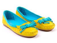 Желтые замшевые мокасины TM ETOR