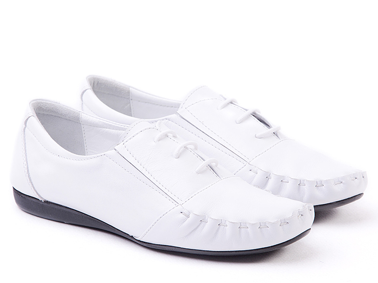 Мокасины Etor 2806-3010 белые