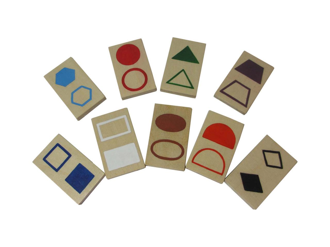Набір дидактичного матеріалу HEGA  Геометричні фігури. Роздаткові