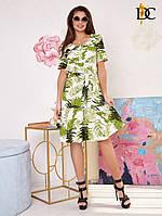 83f1398a66b Женское стильное платье Р 2184 в ретро стиле цветочный принт