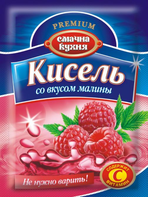 Кисель со вкусом малины ТМ Смачна кухня, 90 г