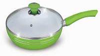 Сковорода противопригарная с крышкой 28 см Bohmann BH-6228 керамическое покрытие большая