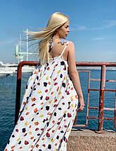 """Длинное летнее платье-сарафан на бретельках """"Моника"""" с принтом (2 цвета), фото 2"""