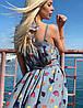 """Длинное летнее платье-сарафан на бретельках """"Моника"""" с принтом (2 цвета), фото 5"""