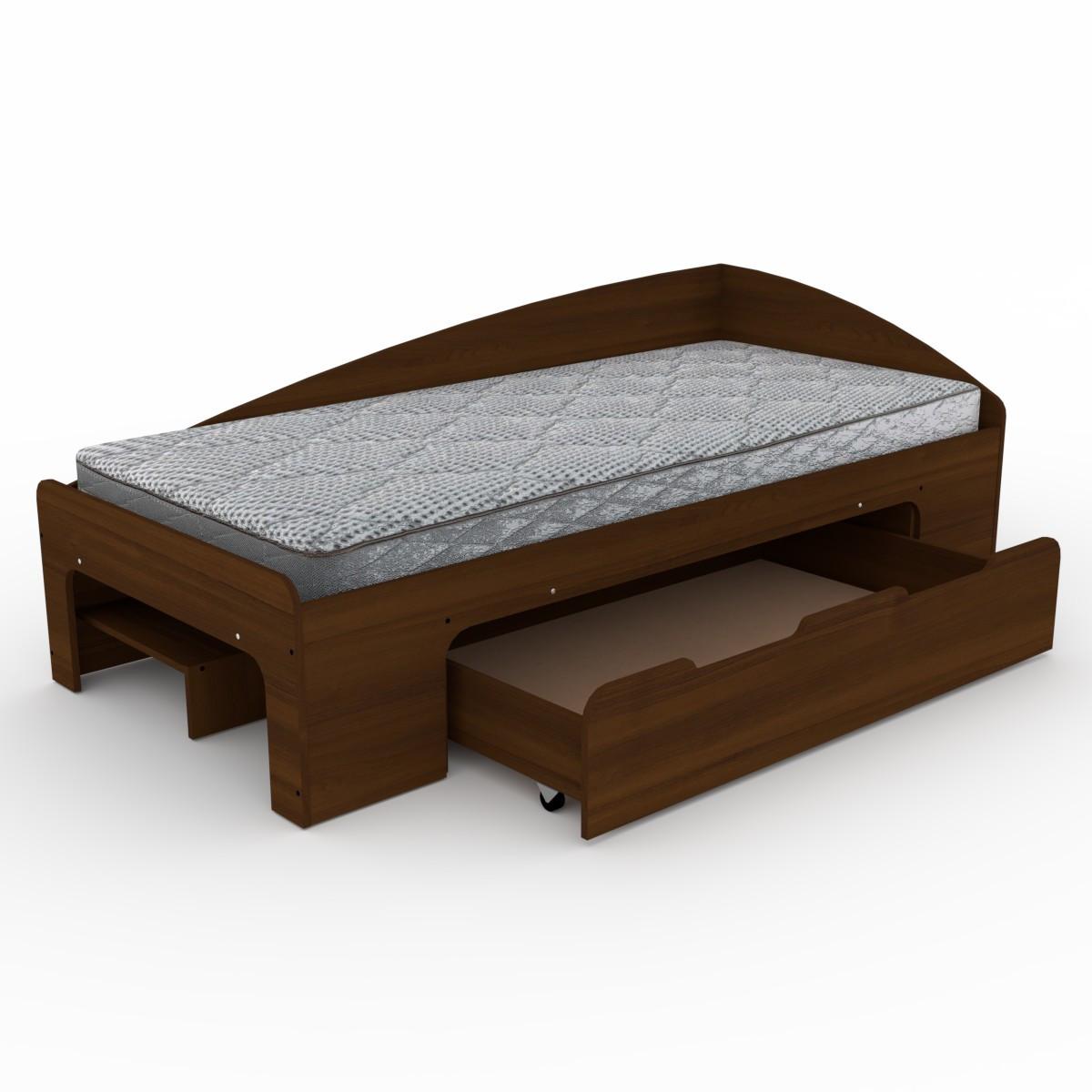Кровать 90+1 орех экко Компанит (95х204х70 см)
