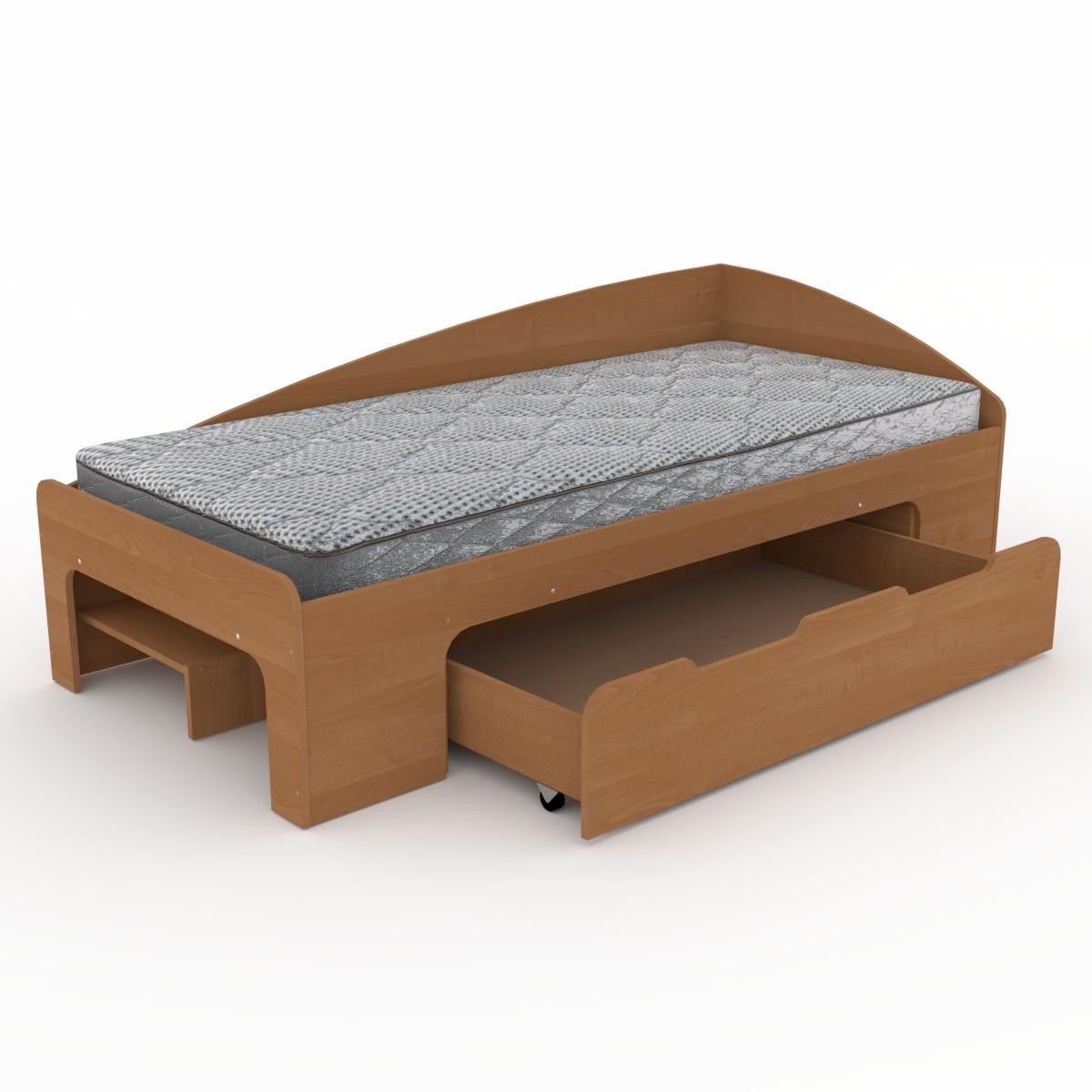 Кровать 90+1 ольха Компанит (95х204х70 см)