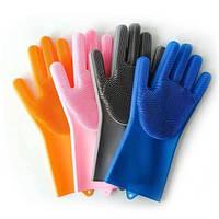 Резиновые перчатки-губки MAGIC-BRUSH Синий