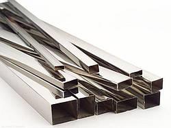 Труба нержавеющая профильная прямоугольная 20х10х1 мм полированная, шлифованная, матовая