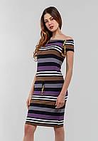 Женское платье без рукавов с кулиской из трикотажа Modniy Oazis фиолетовый 90168/1, фото 1