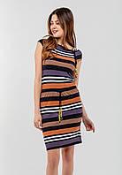 Женское платье с кулиской из трикотажа Modniy Oazis оранжевый 90168/2, фото 1