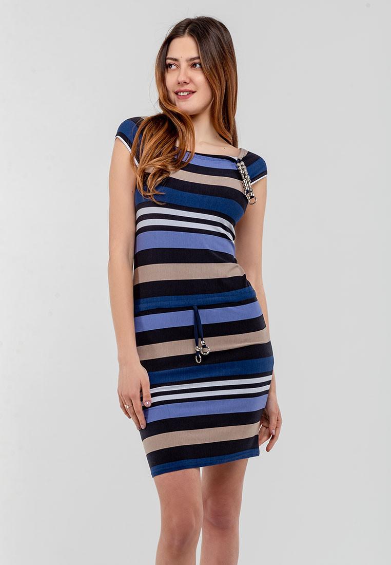 Женское платье без рукавов с кулиской из трикотажа Modniy Oazis синий 90168, фото 1