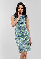 Элегантное стильное женское платье миди из атласа Modniy Oazis голубой 90177/2, фото 1