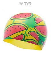 Силиконовая шапочка для плавания TYR Watermelon (Yellow)