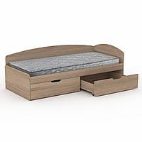 Кровать 90+2С дуб сонома Компанит (95х204х70 см)