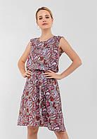 Легкое женское  платье из поплина на резинке с расклешенной юбкой Modniy Oazis розовый 90178, фото 1