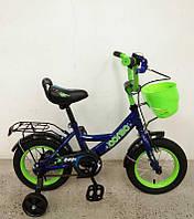 """Велосипед 12"""" дюймов 2-х колёсный G-12099 """"CORSO"""" (1) ручной тормоз, звоночек, сидение с ручкой, доп. колеса, СОБРАННЫЙ НА 75% в коробке"""