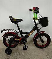 """Велосипед 12"""" дюймов 2-х колёсный G-12172 """"CORSO"""" (1) ручной тормоз, звоночек, сидение с ручкой, доп. колеса, СОБРАННЫЙ НА 75% в коробке"""