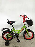 """Велосипед 12"""" дюймов 2-х колёсный G-12517 """"CORSO"""" (1) ручной тормоз, звоночек, сидение с ручкой, доп. колеса, СОБРАННЫЙ НА 75% в коробке"""
