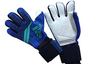 Вратарские перчатки Adidas pro 120 сине-белые, фото 2