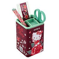 Набір настільний Kite Hello Kitty, квадратний, 4 предмета, пластиковий (HK19-214)
