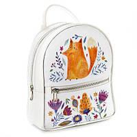 Рюкзак 3D міський білий Лисичка