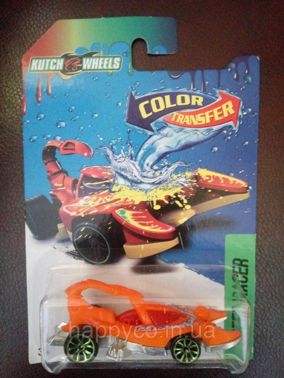 Детская машинка металлопластик  меняет цвет,  скорпион 1шт на листе