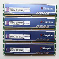 Комплект оперативной памяти Kingston HyperX DDR2 8Gb (4*2Gb) 800MHz PC2 6400U (KHX6400D2B1K2/4G) Б/У, фото 1