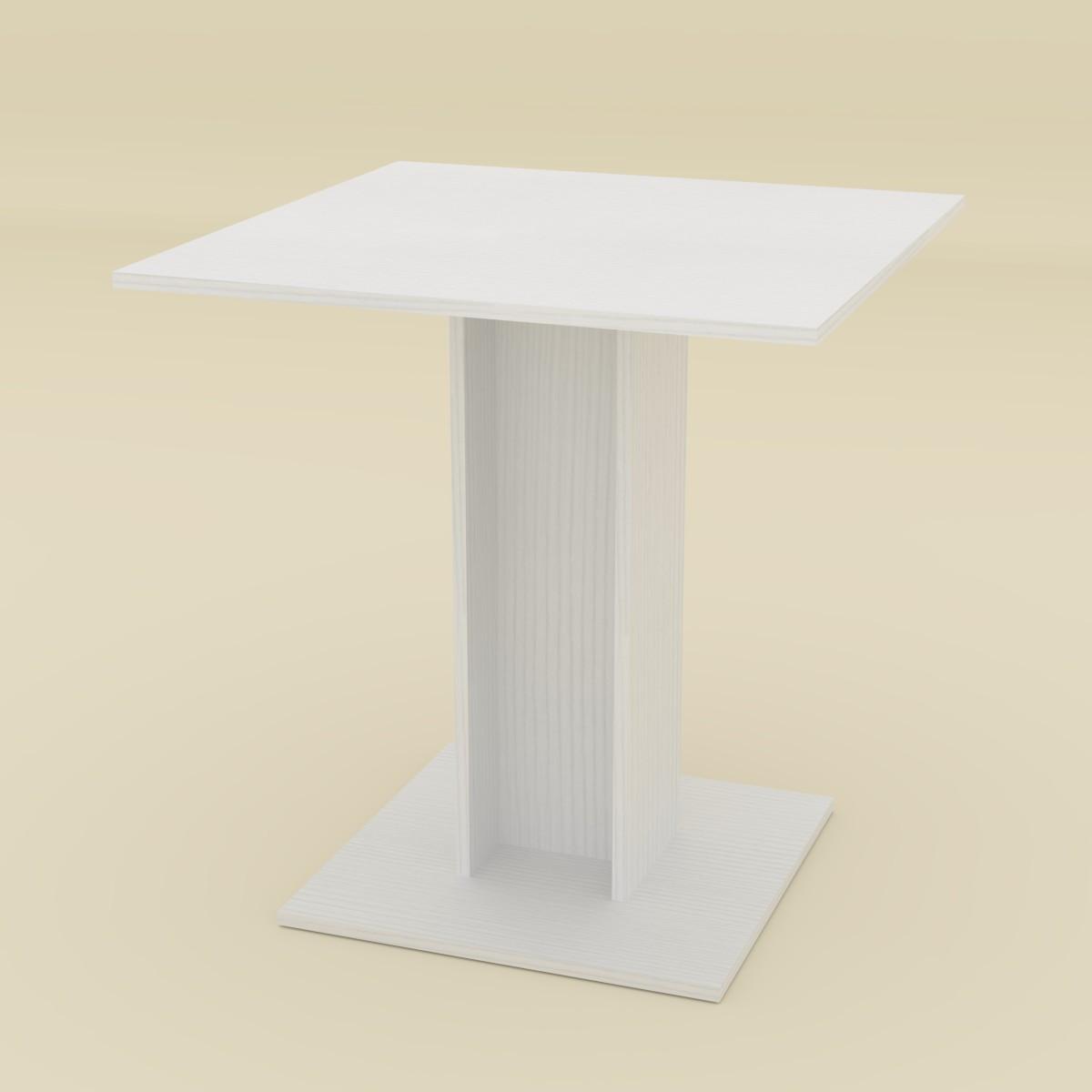 Стол кухонный КС-7 белый Компанит (70х70х74 см)