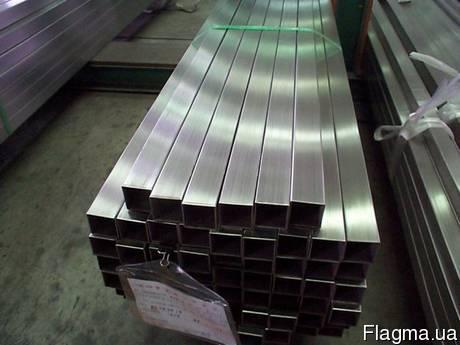 Труба нержавеющая профильная 80х80х4 мм AISI 304 полированная, шлифованная, матовая, пищевая