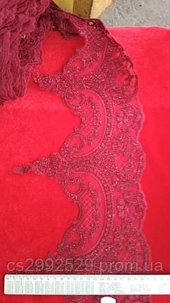 Бант тесьма 18,4м бордовый. Кружево свадебное, фото 2