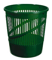 Корзина для бумаг пластиковая, зеленая