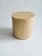 Коробка кругла коричнева 16*16 см