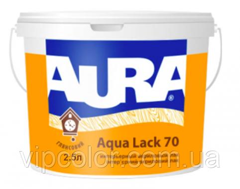 Aura Aqua Lack 70 Белый 2,5 л глянцевый лак для интерьера арт.4820166521227