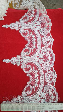 Свадебное кружево.Бант кружево тесьма 18,4м айвори, фото 2