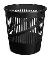 Корзина для бумаг пластиковая, черная