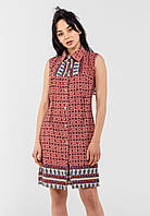 Женское платье-рубашка на пуговицах Modniy Oazis красный 90236/1, фото 1