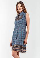 Женское платье-рубашка на пуговицах Modniy Oazis синий 90236, фото 1