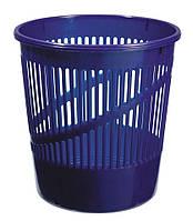 Корзина для бумаг пластиковая, синяя
