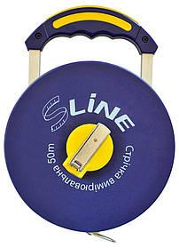 Лента мерная с ручкой S-line стекловолокно 50 м х 13 мм (15-381)