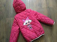 Демисезонная куртка - жилетка для девочки 86 - 110 с лол Детская весенняя курточка демисезон