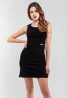 Красивое аккуратное женское платье из стрейч-джинса Modniy Oazis черный 90238