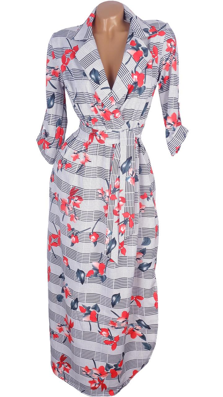 Весеннее платье макси в цветы