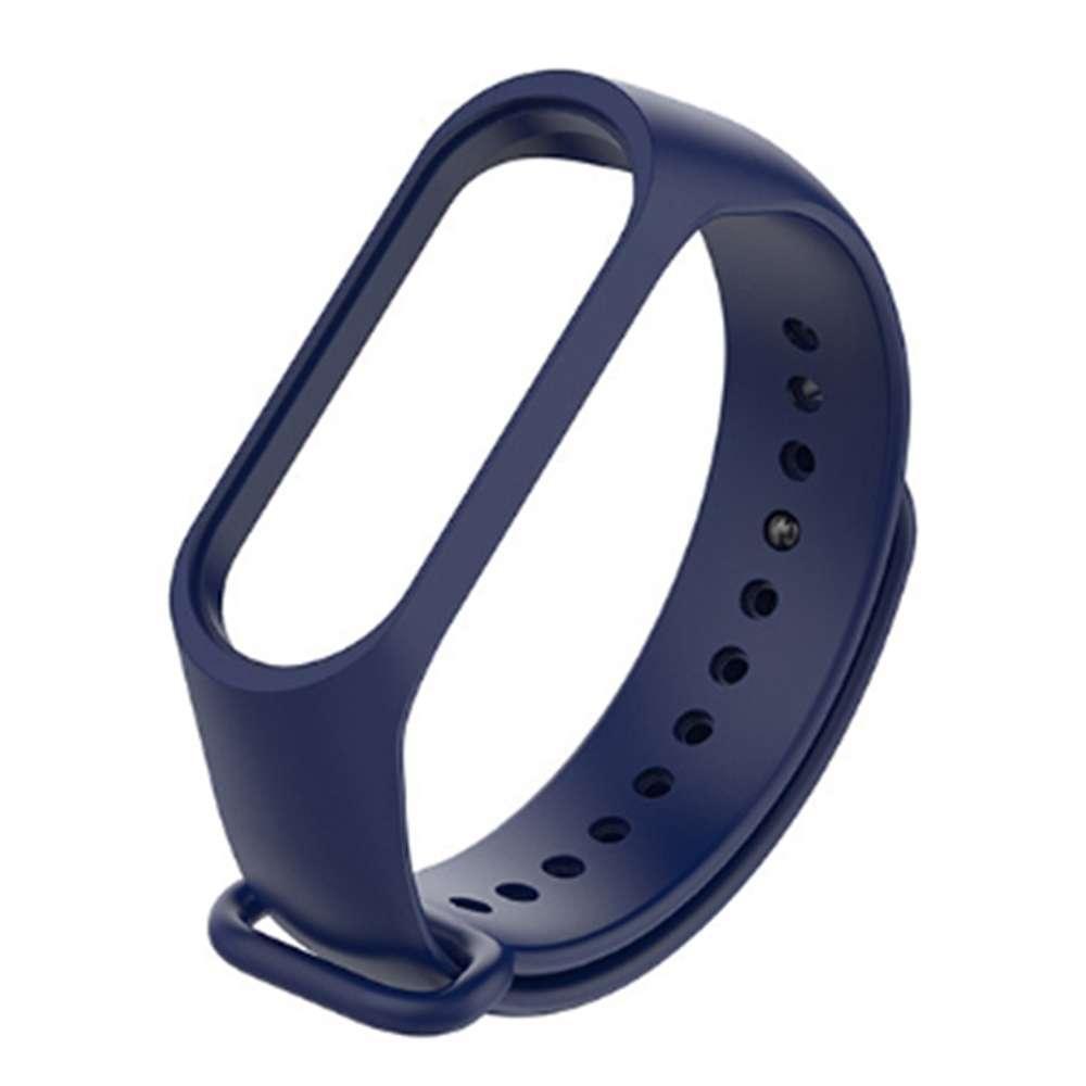 Ремешок браслет для фитнес браслета mi band 3 Синий