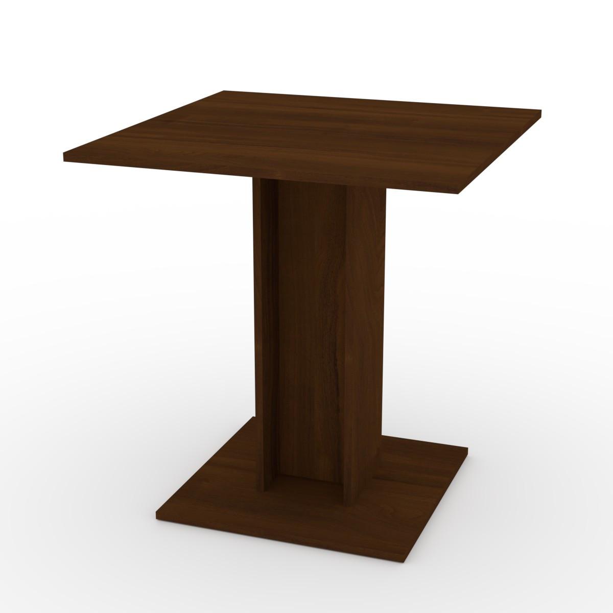 Стол кухонный КС-7 орех экко Компанит (70х70х74 см)