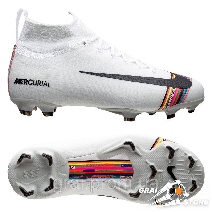 bffb99c6 Детские бутсы Nike Mercurial Superfly VI Elite FG LVL UP  White/Platinum/Black
